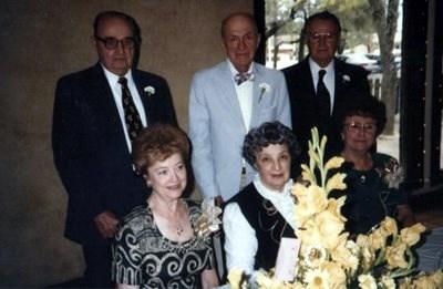 Leslie & Emalyn Hild Donald & Winona Pritchard Cleburne & Cleo Hild Schwamkrug's, New Braunfels, Tx. 1996, 50th anniversary