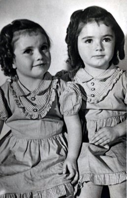 sister Joan and Jean - age 4