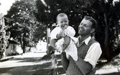 Lorne is a healthy, adorable little baby at 6 months of age with his father, Dr. Nick Huculak