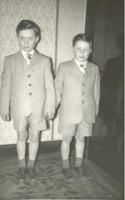 Andrew and his younger brother Brian, 1959, Glasgow