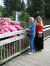 Maryann and Lisa in the Rhododendron Garden in Portland