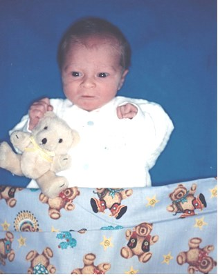 William Christopher Waltrip April 15,1994, the day after he was born.